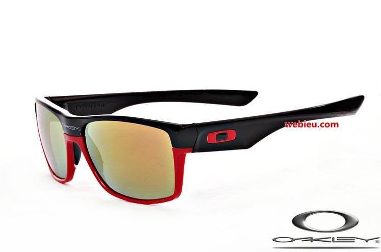 black and yellow oakley sunglasses r7ig  fake Oakleys twoface sunglasses with matte black and red frame / fire  iridium lens,foakleys