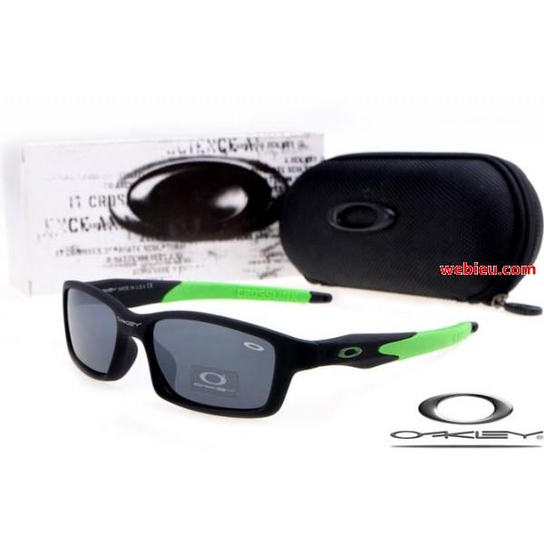oakley jury sunglasses  fake Oakleys crosslink sunglasses matte black / island green ...