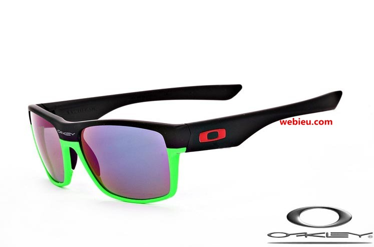 6eb7edaab6 knockoff Oakleys twoface sunglasses with matte black and green frame    violet iridium lens
