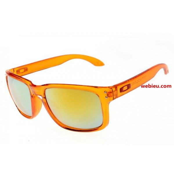da631cca0cfb6 fake Oakleys Holbrook sunglasses clear orange frame   fire iridium sale