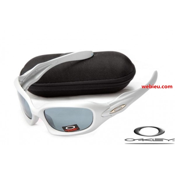 822b82b2135 fake Oakleys monster dog white frame   grey iridum