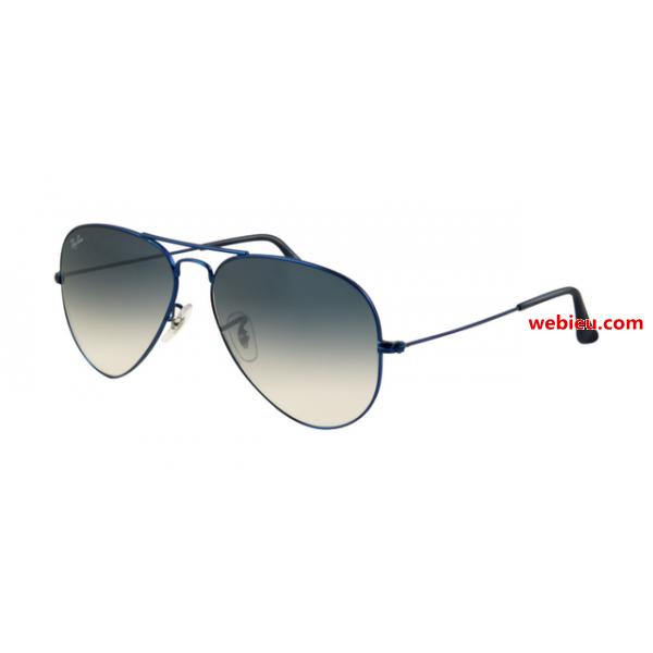 Fake Ray Ban RB3025 Aviator Sunglasses Metal Blue Matte Frame ...