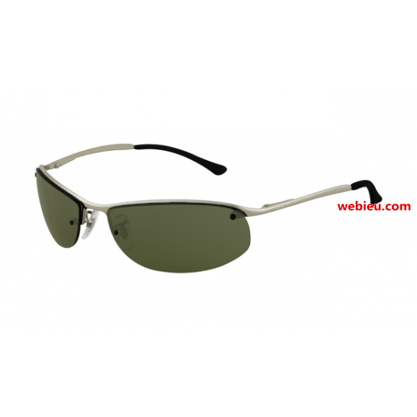 1f65c48017 Fake Ray Ban RB3179 Top Bar Oval Sunglasses Gunmetal Frame Green for ...