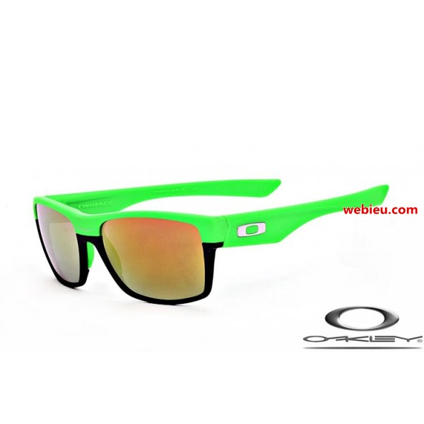 4cc75c795b76 knockoff Oakleys twoface sunglasses with green and black frame ...