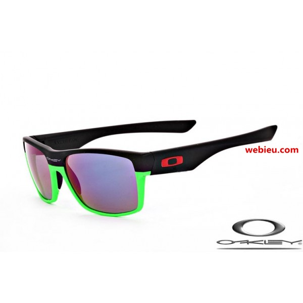 acf4409cd5 knockoff Oakleys twoface sunglasses with matte black and green frame ...