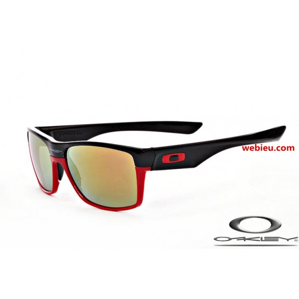 8e41ed06c1 fake Oakleys twoface sunglasses with matte black and red frame ...