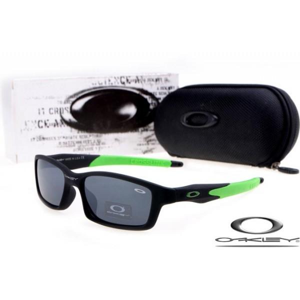 27083a188b fake Oakleys crosslink sunglasses matte black   island green   black iridium